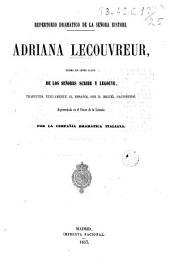 Adriana Lecouvreur: drama en cinco actos