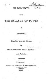 Fragments Upon the Balance of Power in Europe