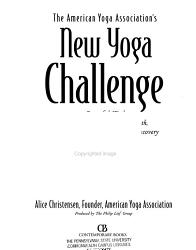 The American Yoga Association S New Yoga Challenge Book PDF