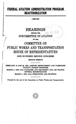 Federal Aviation Administration Program Reauthorization PDF