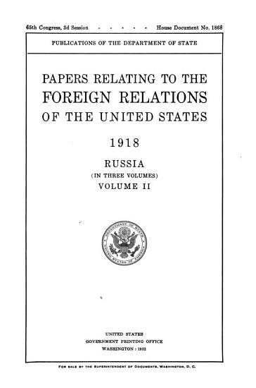 Papers Relating to the Foreign Relations of the United States PDF