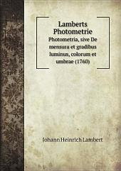 Lamberts Photometrie