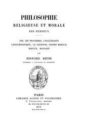 La Bible: traduction nouvelle avec introductions et commentaires, Volume1,Numéro6