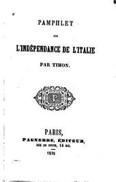 Pamphlet sur l'indépendance de l'Italie