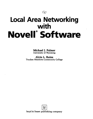 Local Area Networking with Novell Software PDF