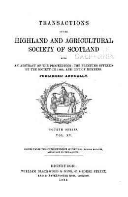 Transactions of the Highland and Agricultural Society of Scotland PDF