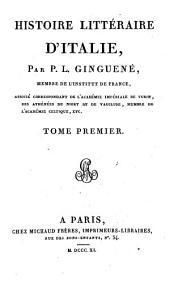 Histoire littéraire d'Italie: Volume1