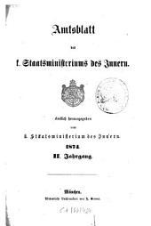 Amtsblatt des Königlichen Staatsministeriums des Innern: Band 2