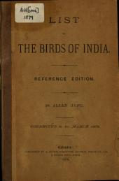 A Rough Tentative List of the Birds of India: Corrected to March 1st, 1879