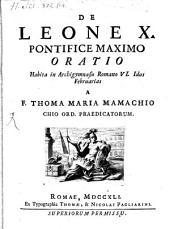 De Leone X P. M. oratio