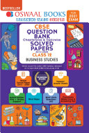 Oswaal CBSE Question Bank Chapterwise & Topicwise Solved Papers Class 12, Business Studies (For 2021 Exam)