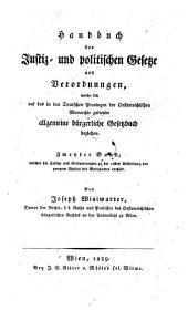 Handbuch der Justiz und Politischen Gesetze und Verordnungen