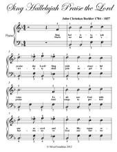 Sing Hallelujah Praise the Lord - Easy Piano Sheet Music