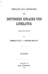 BEITRAGE ZUR GESHICHTE DER DEUTSCHEN SPRACHE UND LITERATUR