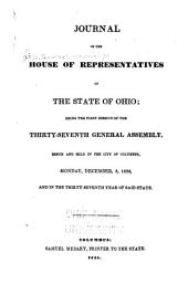 Journal of the House of Representatives of the State of Ohio: Volume 37