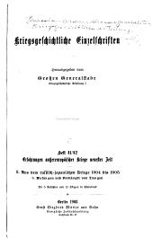 Kriegsgeschichtliche Einzelschriften: Heft 1-, Ausgaben 41-42