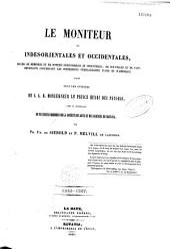 Le moniteur des Indes orientales et occidentales: recueil de mémoires et de notices scientifiques et industriels... concernant les possessions néerlandaises d'Asie et d'Amérique...