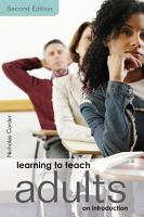 Learning to Teach Adults PDF