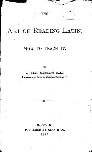 The Art of Reading Latin PDF