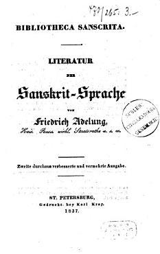 Bibliotheca Sanscrita  Literatur der Sanskrit Sprache PDF