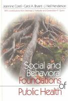 Social and Behavioral Foundations of Public Health PDF