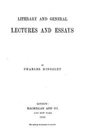 Collected Works of Charles Kingsley  Literary and general lectures and essays PDF