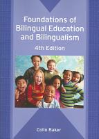 Foundations of Bilingual Education and Bilingualism PDF