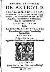 De Articulis religionis inter catholicos et protestantes Consultatio