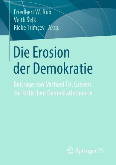 Die Erosion der Demokratie PDF