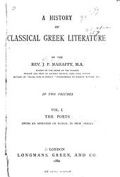 A History of Classical Greek Literature: Volume 1