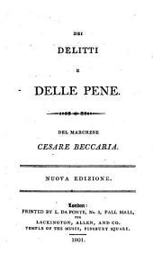 Dei delitti e delle pene del marchese Cesare Beccaria