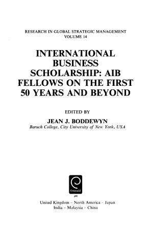 International Business Scholarship PDF