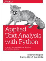 Applied Text Analysis with Python PDF