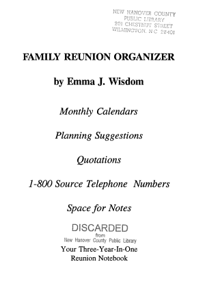 Family Reunion Organizer