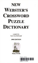 Webster s Crossword Puzzle Dictionary PDF
