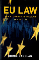 EU Law for Irish Students PDF