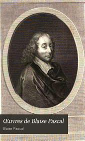 Oeuvres de Blaise Pascal: Volume1