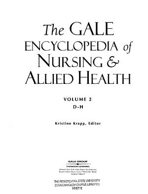 The Gale Encyclopedia of Nursing   Allied Health  D H PDF