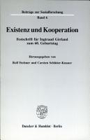 Existenz und Kooperation PDF