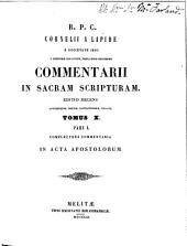 Commentarii in Sacram Scripturam: Volume 10, Part 1