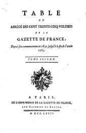 Gazette de France: Volume2