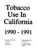 Tobacco Use in California 1990-1991