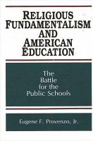 Religious Fundamentalism and American Education PDF