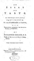 An Essay on Taste PDF