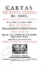 Cartas de Santa Teresa de Jesús: madre y fundadora de la reforma de la orden de Nuestra Señora del Carmen, de la primitiva observancia, Volumen 3