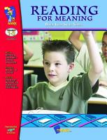 Reading for Meaning Workbook Gr  1 3 PDF