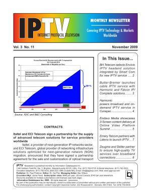 IPTV Monthly Newsletter November 2009 PDF