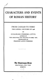 Characters and Events of Roman History: From Caesar to Nero