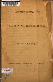 Anmerkungen zu Heinrichs von Freiburg Tristan ...