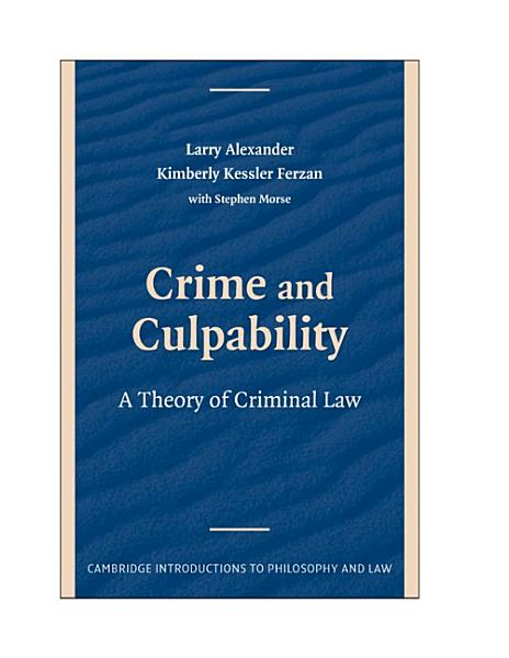 Download Crime and Culpability Book